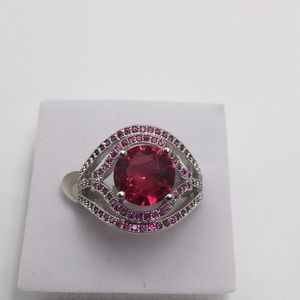 3 CARAT RED RUBY 925(sterling silver) Size 7